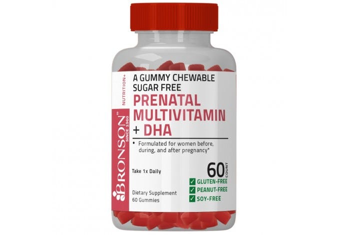 Prenatal Multivitamin + DHA Sugar Free Gummy 60 Count