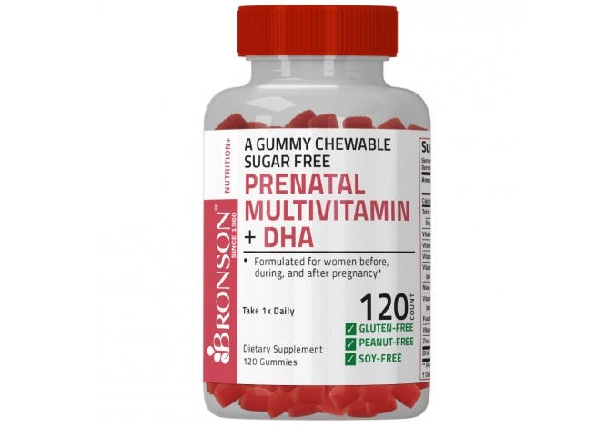 Prenatal Multivitamin + DHA Sugar Free Gummy 120 Count
