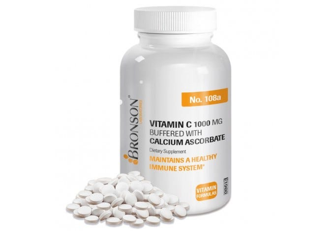 Vitamin C 1,000 mg Buffered with Calcium Ascorbate, 100 Tablets