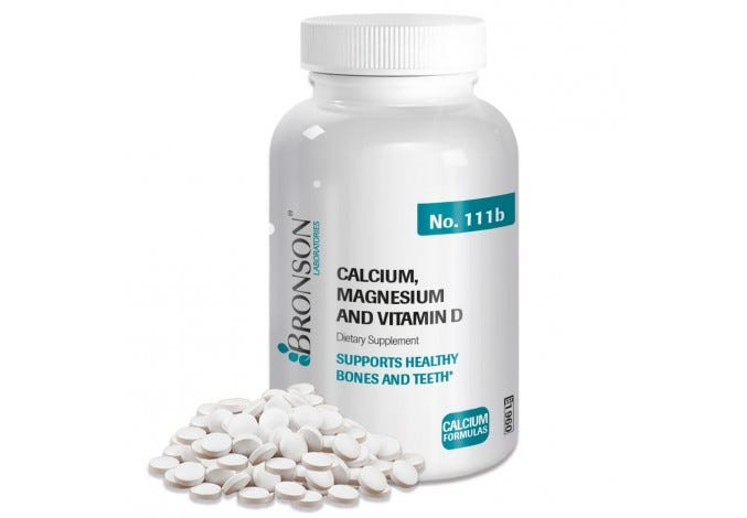 Calcium, Magnesium & Vitamin D, 250 Tablets