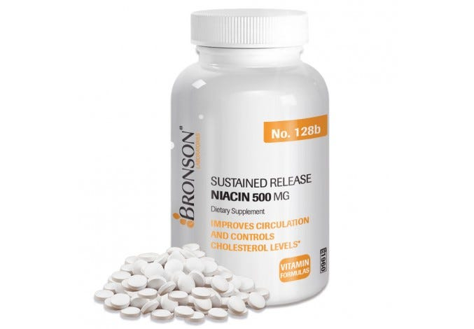 Niacin (Vitamin B3) 500 mg Sustained Release
