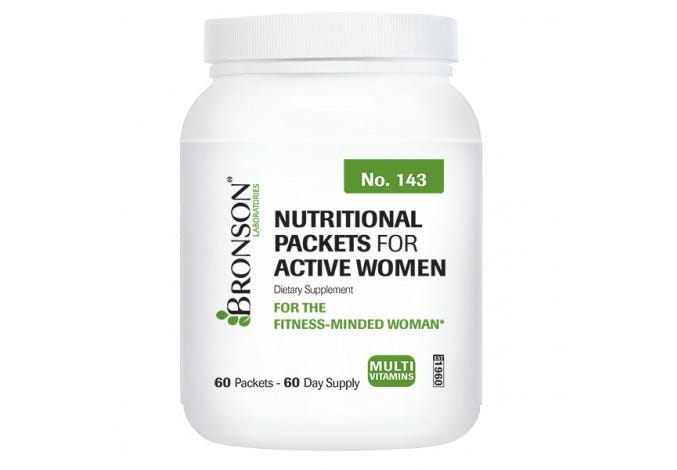 Nutritional Packets for Active Women