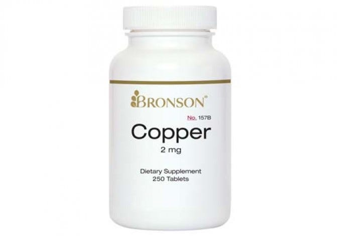 Copper 2 mg 250 Tablets