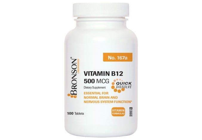Sublingual Vitamin B-12 500 mcg