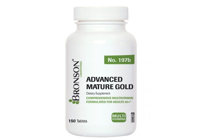 Advanced Mature Gold Multivitamin for Seniors