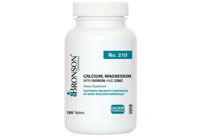 Calcium, Magnesium with Boron and Zinc 180 Tablets