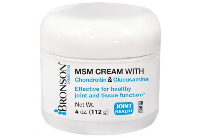 MSM Cream with Chondroitin & Glucosamine