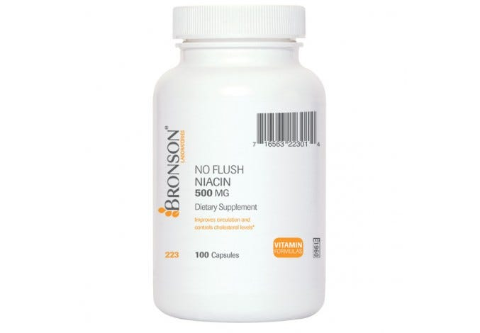 No Flush Niacin (Vitamin B3) 500 mg