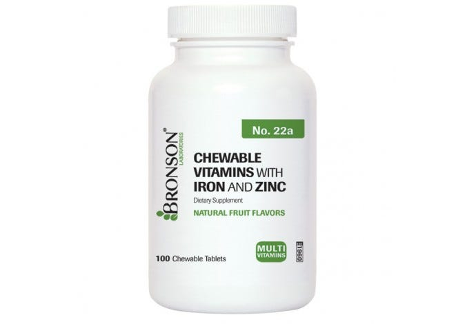Chewable Vitamins with Iron and Zinc