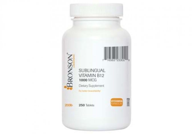 Sublingual Vitamin B-12 1000 mcg