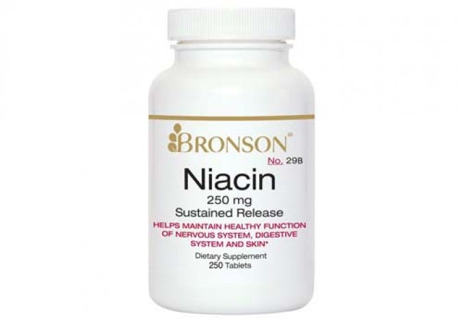 Niacin (Vitamin B3) 250 mg Sustained Release