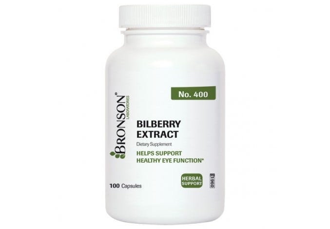 Bilberry Extract 100 Capsules