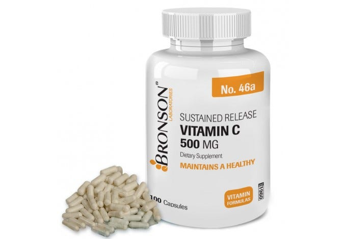 Vitamin C 500 mg Sustained Release, 100 Capsules