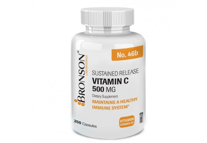 Vitamin C 500 mg Sustained Release, 250 Capsules