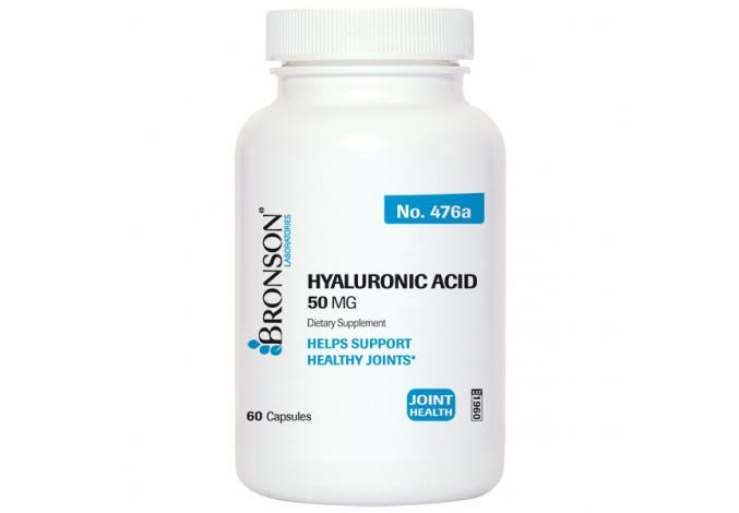 Hyaluronic Acid 50 mg, 60 Capsules