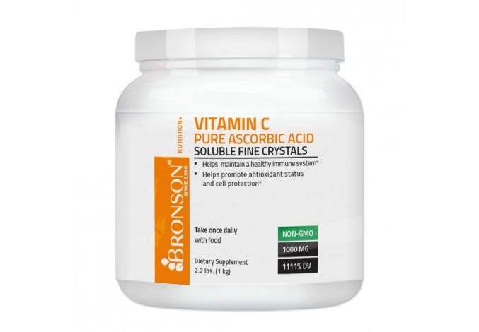Vitamin C Crystals (Powder) Premium Pure GMO Free Ascorbic Acid , 1 Kilo, (2.2 Lbs, or 35.3 Ounces)
