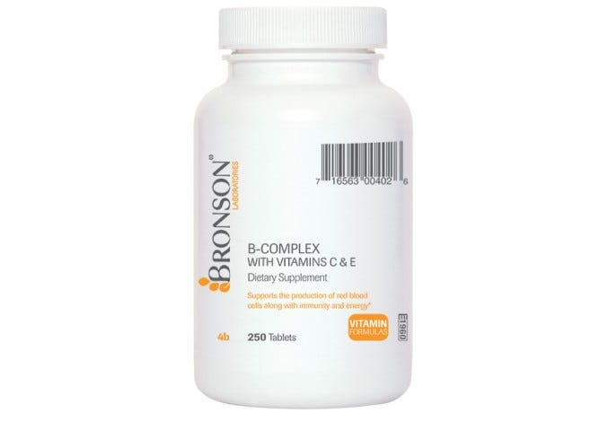 B-Complex Vitamins with Vitamins C & E, 250 Tablets
