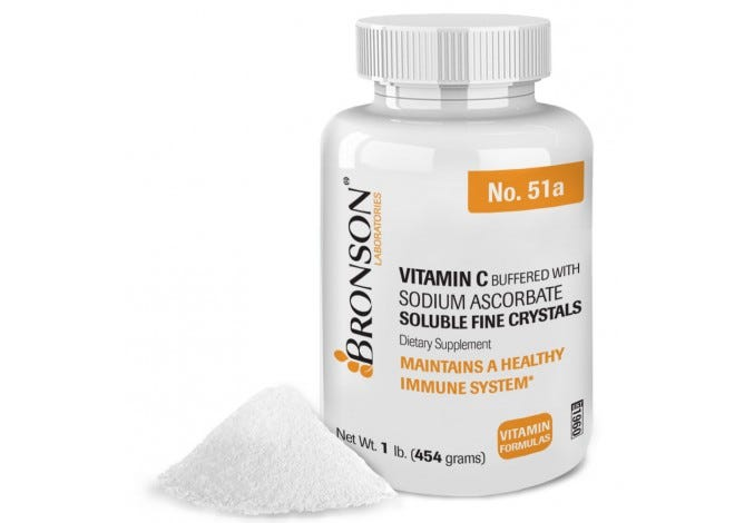 Vitamin C Crystals Buffered with Sodium Ascorbate, 1lb