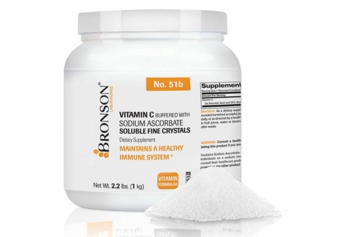 Vitamin C Crystals Buffered with Sodium Ascorbate, 2.2lbs