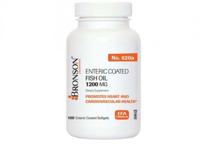 Enteric Coated Fish Oil 1200 mg