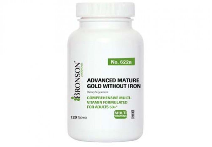 Advanced Mature Gold without Iron Multivitamin For Seniors
