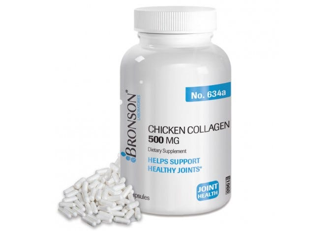 Chicken Collagen 500 mg, 60 Capsules