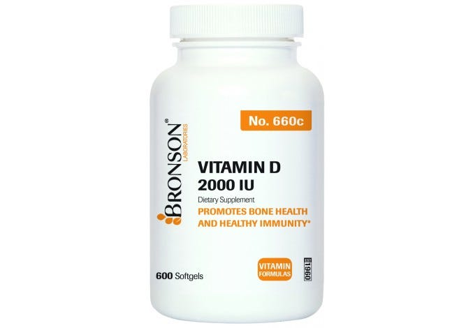 Vitamin D3 2000 IU, 600 Softgels