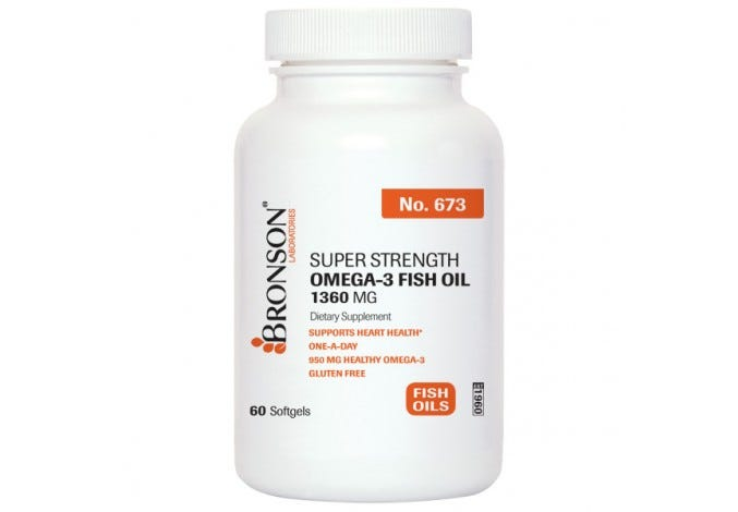 Super Strength Omega-3 Fish Oil 1360 mg