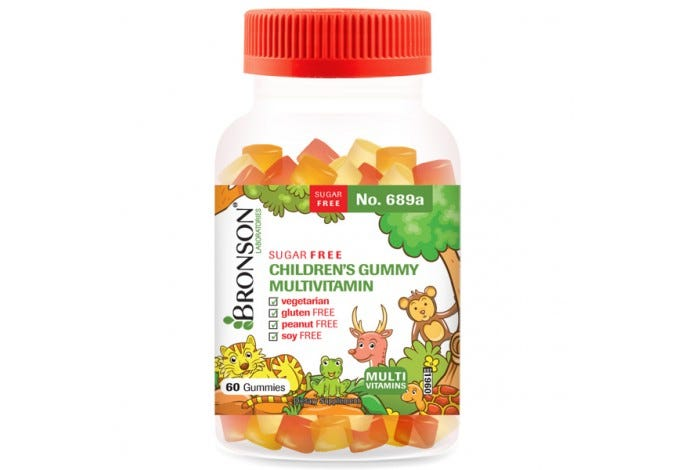 Sugar Free Children's Gummy Multivitamin – Chewable Sugar Free Gummy Multivitamin for Kids, 60 Gummies