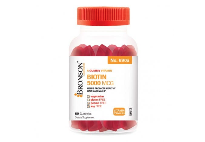 Chewable Gummy Biotin 5000 mcg, 60 Gummies