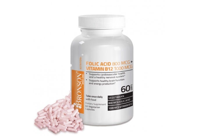 Folic Acid 800 mcg + Vitamin B12 1000 mcg