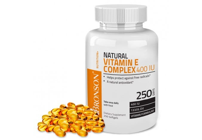 Natural Vitamin E Complex 400 IU, 250 Softgels