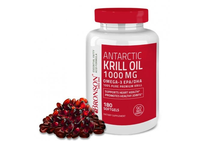 Antarctic Krill Oil 1000 mg with Astaxanthin, 180 Softgels