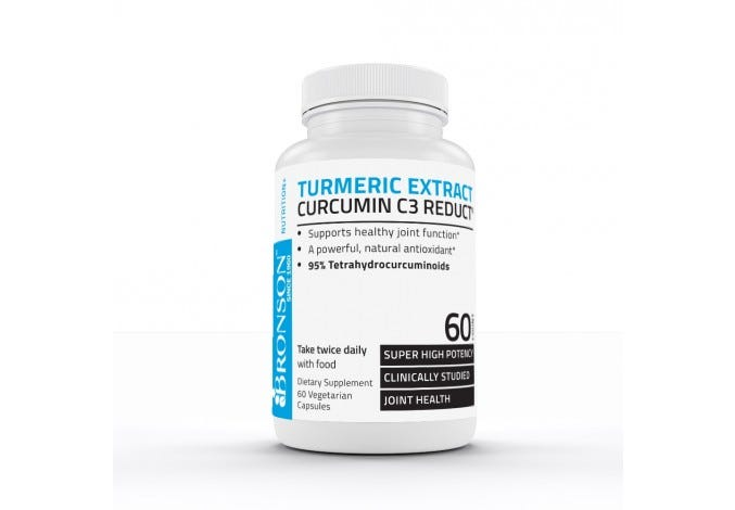 Turmeric Extract - Curcumin C3 Reduct®, 60 Capsules