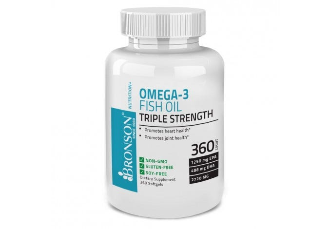 Omega 3 Fish Oil Triple Strength 2720 mg 360 Softgels