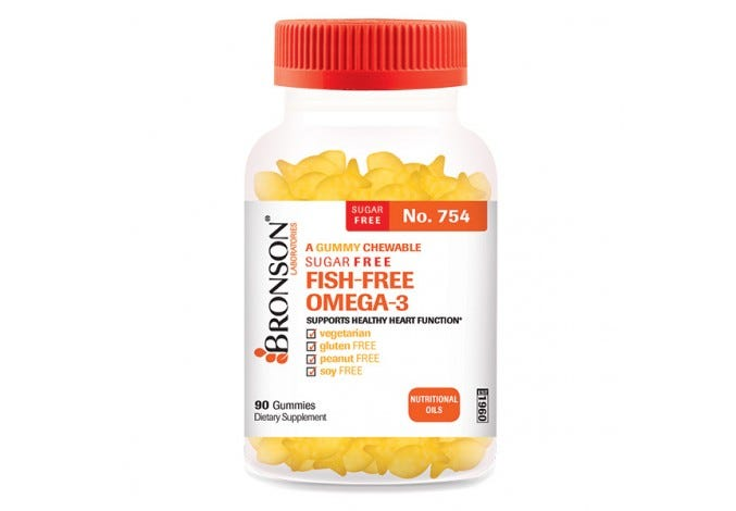 A Gummy Chewable Sugar Free Fish Free Omega-3