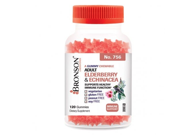 A Gummy Chewable 	Adult Echinacea & Elderberry