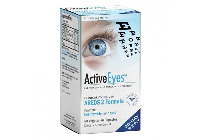 ActiveEyes™ AREDS 2 Eye Vitamin & Mineral Supplement 180 Capsules