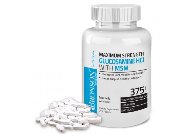 Maximum Strength Glucosamine HCl 1500 MG with MSM 1500 MG