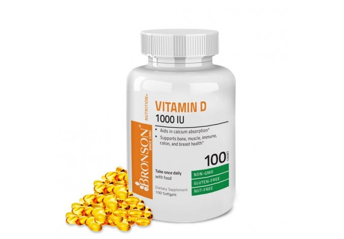 Vitamin D3 1000 IU, 100 Softgels