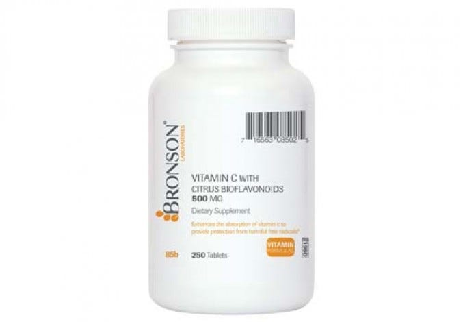 Vitamin C 500 mg with Citrus Bioflavonoids, 250 Tablets
