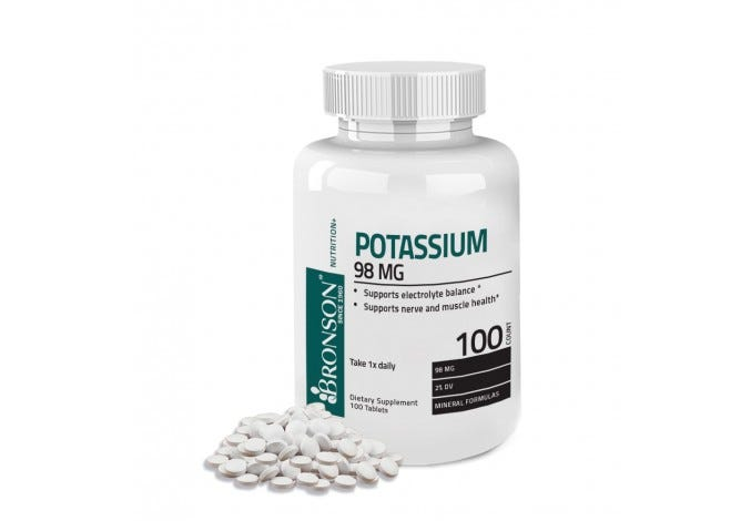 Potassium 98 mg, 100 Tablets