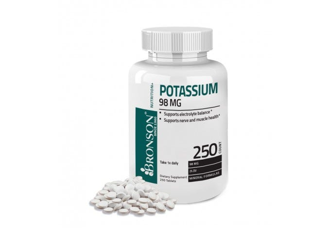 Potassium 98 mg, 250 Tablets