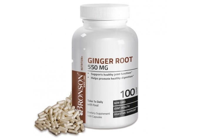 Ginger Root 550 mg, 100 Capsules
