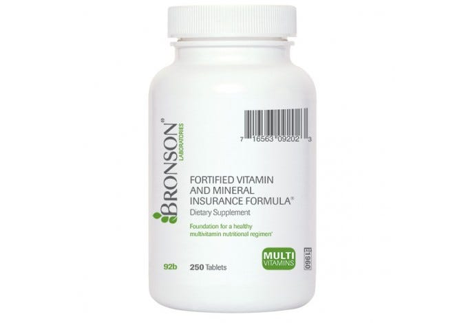 Fortified Vitamin & Mineral Insurance Formula®, 250 Tablets