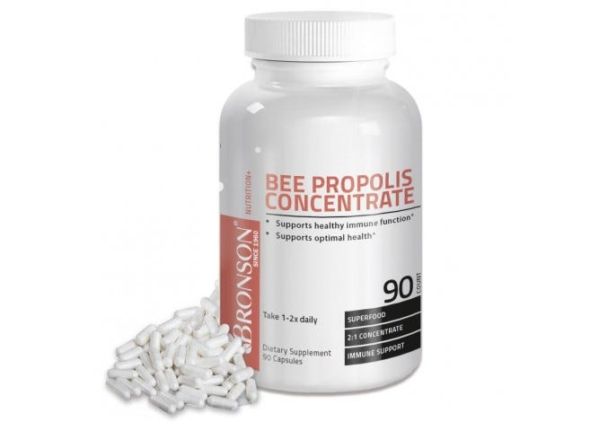 Bee Propolis Concentrate, 90 Capsules